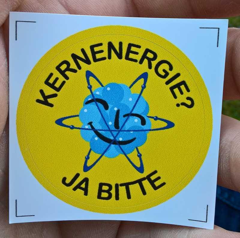 Foto: Aufkleber »Kernenergie? Ja bitte«